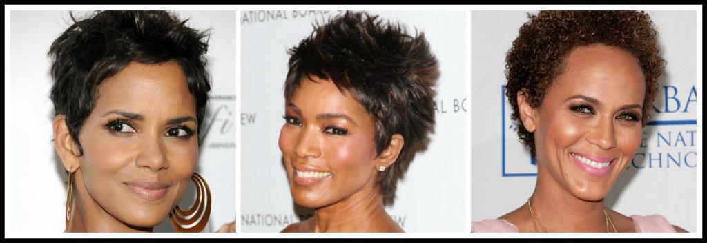 Black women hair collage